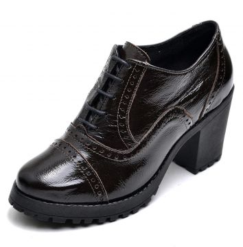 Oxford Ankie Boot em Couro Yes Basic Casual Ref 19000 Verni