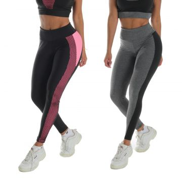 Kit 2 Leggings Tela e Bicolor Click Mais Bonita Click Mais