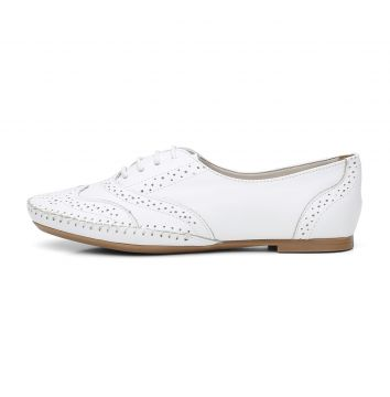 Sapato Oxford Casual em Couro Yes Basic 15360 Branco Yes Ba