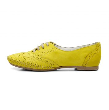 Sapato Oxford Casual em Couro Yes Basic 15360 Amarelo Yes B