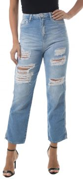Calça Jeans Eventual Mom 22815 Azul Eventual