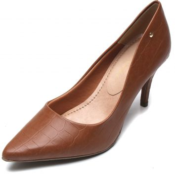 Scarpin Thelure Croco Caramelo Thelure