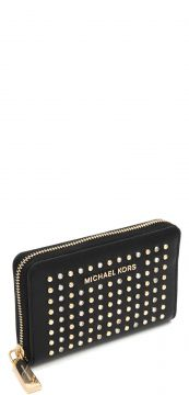 Carteira Michael Kors Jet Set Sm Za Card Preto Michael Kors