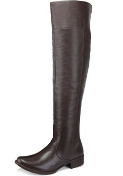Bota Montaria Cano Alto Over The Knee em Couro EC Shoes Caf