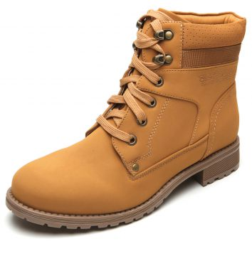 Bota Coturno Mooncity Color Caramelo Mooncity