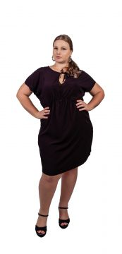 Vestido Arsenal Textil Plus Curto Preto Arsenal Textil