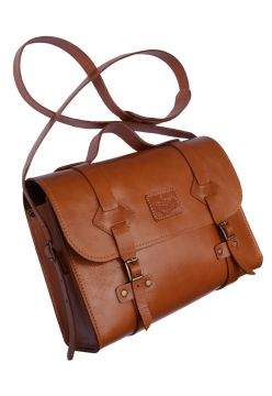 Bolsa Line Store Leather Satchel Oregon Couro Whisky Rústic
