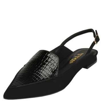 Sapatilha Delotto Slipper Nobuck Preto Delotto
