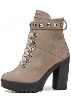 Bota Rock Fit Coturno Taupe Rock Fit