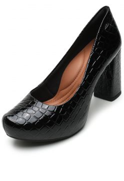 Scarpin Dakota Croco Preto Dakota