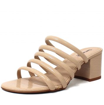Tamanco de Tiras Damannu Shoes Stacy Nude Damannu Shoes
