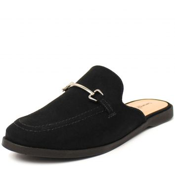 Mule Vicky Damannu Shoes Nobuck Preto Damannu Shoes