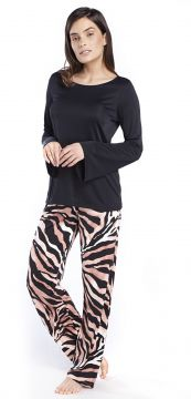 Pijama Feminino de Inverno Animal Print Safari Inspirate