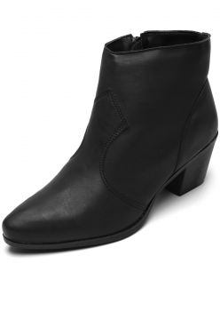 Bota DAFITI SHOES Flat Preta DAFITI SHOES