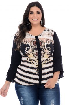 Camisa Plus Size Art Final Angelica Estampada Art Final