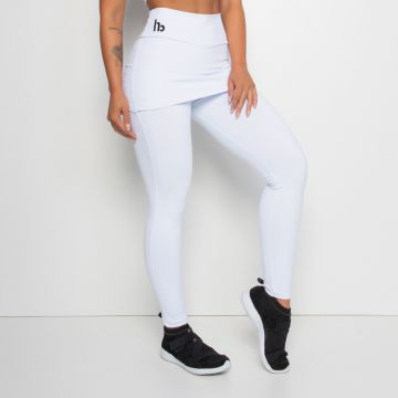 Legging Fitness com Tapa Bumbum Branca Honey Be LG1300 Bran