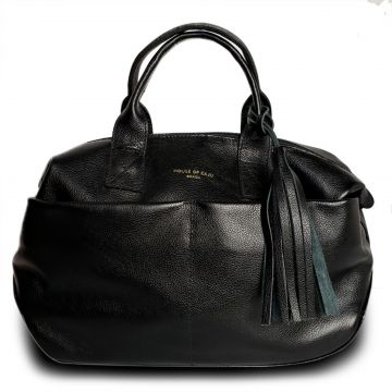 Bolsa Tiracolo Couro House of Caju Basic & Chic Preto House