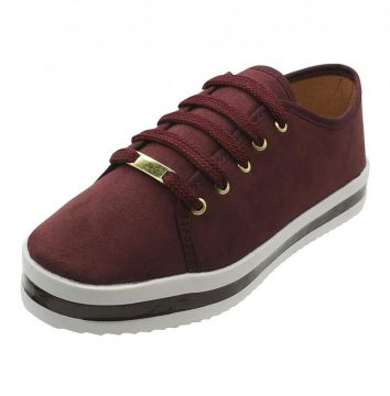 TÊNIS FEMININO CASUAL BORDO VIA ANGEL VIA ANGEL
