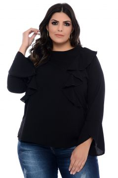 Blusa Plus Size Art Final Preta Nataly Art Final