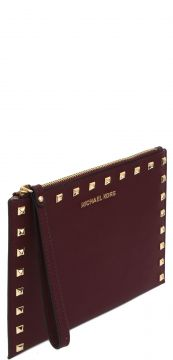 Carteira Michael Kors JET SET TRAVEL XL ZIP Vinho Michael K