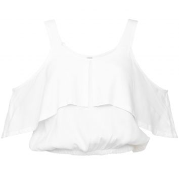 Blusa Ciganinha Mercatto Cropped Lisa Branca Mercatto