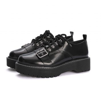 Oxford Its Shoes Tratorado de Fivela Preto ITS SHOES