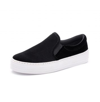 Slip On Trivalle Veludo Preto Trivalle Shoes