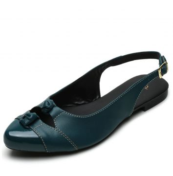 Sapatilha DAFITI SHOES Slingback Verde DAFITI SHOES