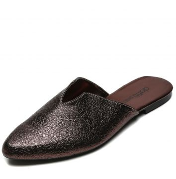 Mule DAFITI SHOES Recortes Marrom DAFITI SHOES