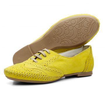Oxford Leticia Alves Casual Amarelo Dexshoes