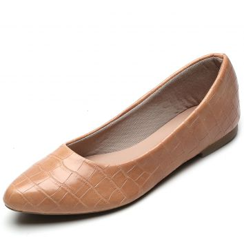 Sapatilha DAFITI SHOES Croco Nude DAFITI SHOES