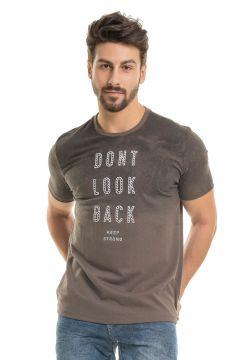 Camiseta Dont Look - MARROM - GG Bugaloo