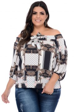 Blusa Plus Size Art Final Ludy Estampada Art Final