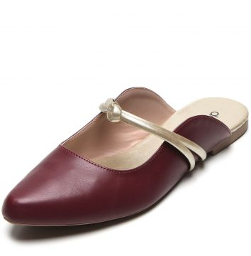Mule DAFITI SHOES Recortes Vinho DAFITI SHOES