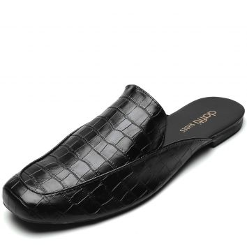 Mule DAFITI SHOES Croco Preto DAFITI SHOES