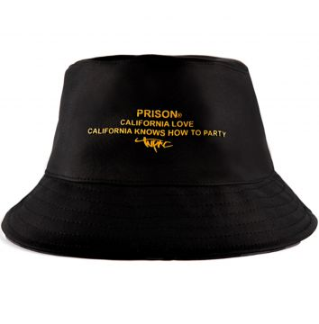 Bucket Hat Prison California Love Preto Prison