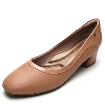 Scarpin Piccadilly Recortes Nude Piccadilly