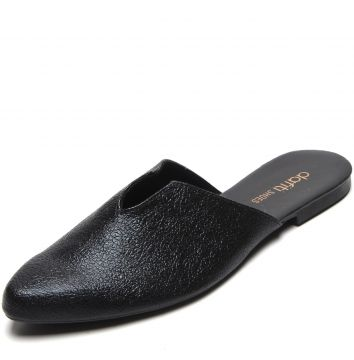 Mule DAFITI SHOES Recortes Preto DAFITI SHOES