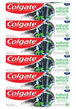 Kit C/ 6 Cremes Dental Colgate Natural Extracts Purificante