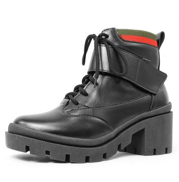Bota Coturno Damannu Shoes Lucille Napa Preto Damannu Shoes