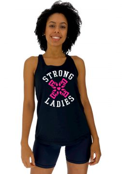 Regata Feminina Alto Conceito Strong Ladies Preto Alto Conc