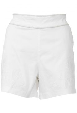 Short Morena Rosa Bordado Off-White Morena Rosa