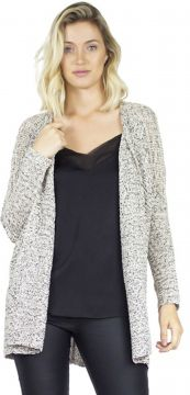 Cardigan the style box - mescla bege The Style Box