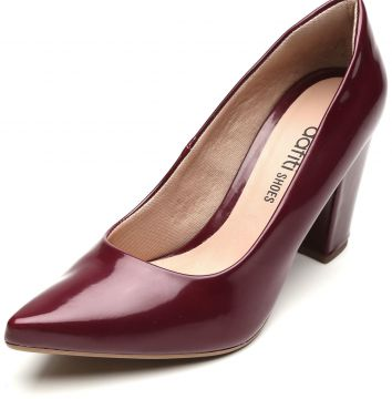 Scarpin DAFITI SHOES Verniz Vinho DAFITI SHOES