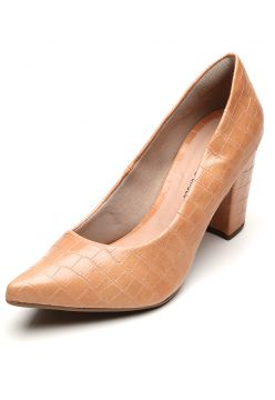 Scarpin DAFITI SHOES Croco Nude DAFITI SHOES
