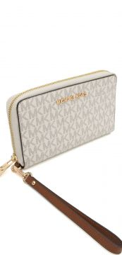 Carteira Michael Kors JET SET TRAVEL LG Branco Michael Kors