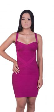Vestido Bandage Dress Luxo Roxo Bandage Dress