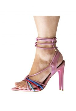 Sandalia Eagle Black- Strips Metalizada Rosa Eagle Black