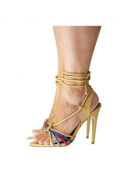 Sandalia Eagle Black- Strips Metalizada Dourado Eagle Black