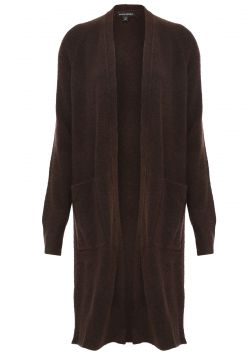 Maxi Cardigan Lã Banana Republic Tricot Aire Duster Marrom